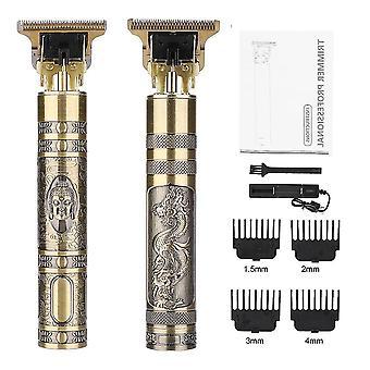 Lcd trymer do włosów dla mężczyzn usb akumulator do włosów golarka elektryczna profesjonalna fryzjer broda