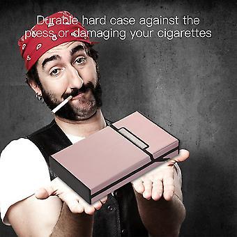 Wire Drawing Cigar Cigarette Case Tobacco Holder Mini Box Storage Container