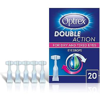 Optrex Double Action for Dry and Tired Eyes - 20 Single Use Vials