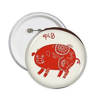 השנה של חזיר חיה סין גלגל המזלות תג כפתור 5pcs