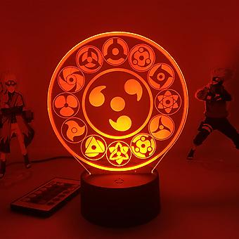 3d Led Night Light Lamp Anime Naruto The Sharingan