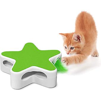 Cat Fur Toy Interactive Cat Toy Five-point Star Box Electric Toy For Cats