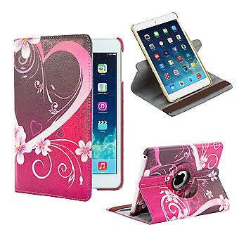 360 degree Design Book case for Apple iPad Mini 4th Gen - Love Heart