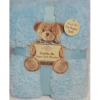 Cuddle Me Super Soft Sherpa texture Blanket 100x150cm - BLUE