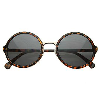 Vintage Inspired Classic Round Circle Sunglasses w/ Metal Bridge