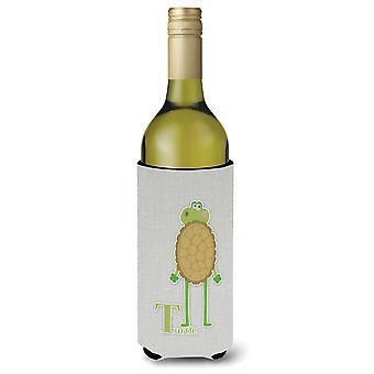 Alfabeto T per Turtle bottiglia di vino Beverge isolante Hugger