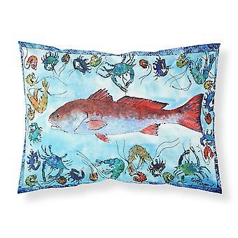 Carolines Treasures  8087PILLOWCASE Red Fish Moisture wicking Fabric standard pi