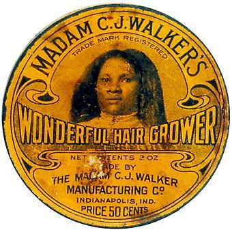 سيدتي CJ مشوا الشعر رائعة الزارع طباعة ملصق حسب مصدر العلم