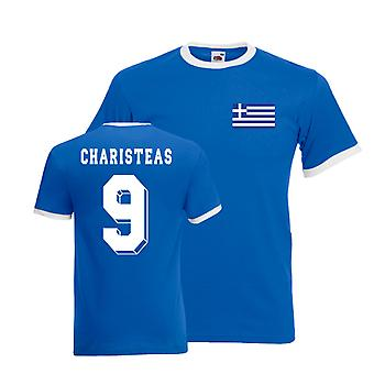 Angelos Charistas Greece Ringer Tee (blue)