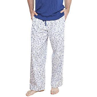 Ben blanc Motif pyjama pantalon Cyberjammies 6207 masculin