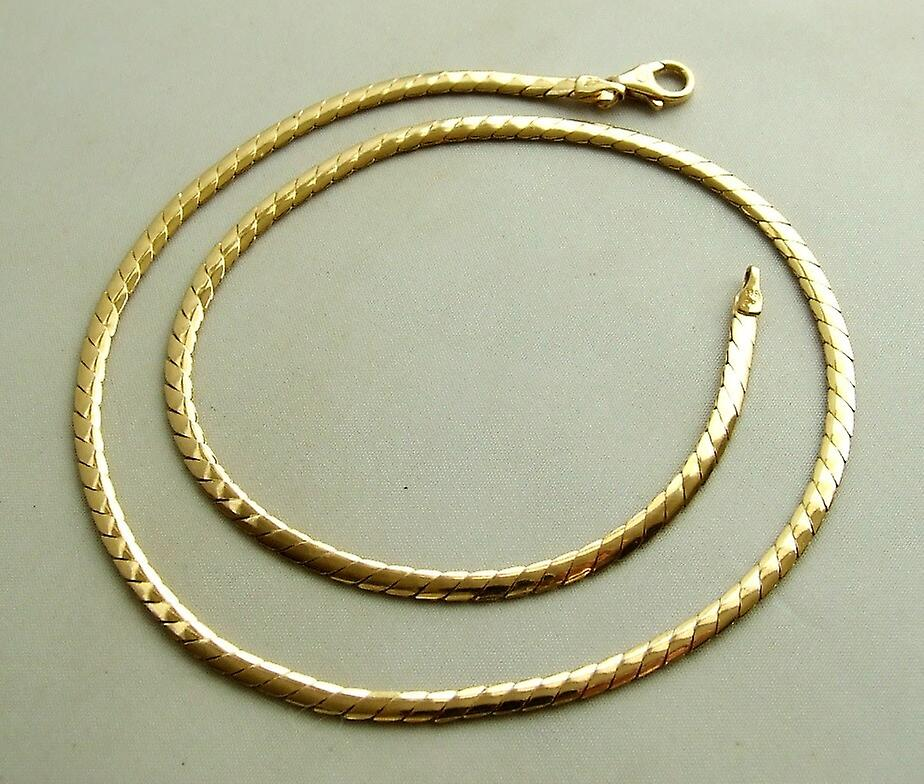 Gold necklace 42 cm