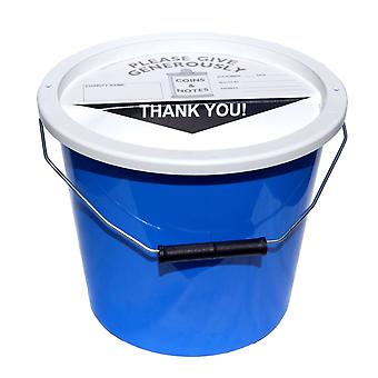 4 Charity Money Collection Buckets 5.7 Litres - Light Blue