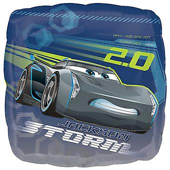 Anagram 18 Inch Cars 3 Square Foil Balloon
