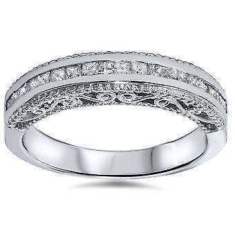 1 / 2ct Princess Cut Vintage 14K Diamantring Jubiläum