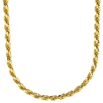 Sterling 925er Silber Bling Kordelkette - ROPE DC 4mm gold