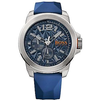 Hugo Boss Orange Mens Blue Rubber Strap Blue Dial 1513348 Watch