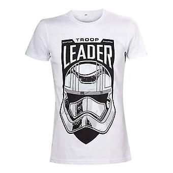 Star Wars The Force Awakens Mens Troop Leader T-Shirt S White TS504393STW-S