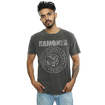 Ramones Men's Distressed Presidential Seal Washed T-Shirt
