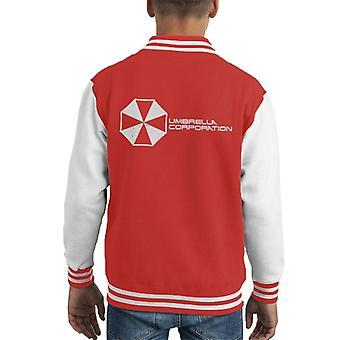 Resident Evil Umbrella Corporation Logo Kid's Varsity Jacket