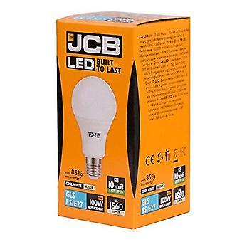 1 X JCB LED 15 Watt Screw Cap GLS Lamp Cool White 4000K 100W Replacement ES E27 LED Bulb[Energy Class A+]