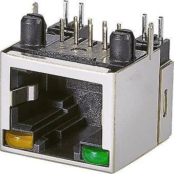 Modulaire gemonteerde socket, 1 poort, CAT 5 Socket, horizontale mount aantal pins: 8P8C A20-108-263-902 zwart EDAC A20-108-263-902 1 PC('s)