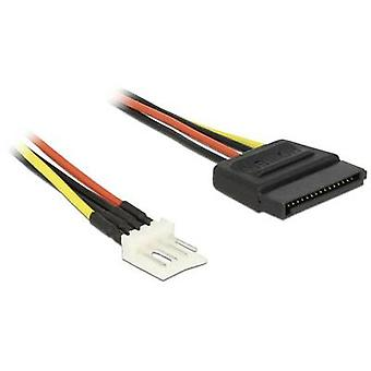 Delock Current Cable [1x SATA power plug - 1x Floppy plug 4-pin] 0.24 m Black, Red, Yellow