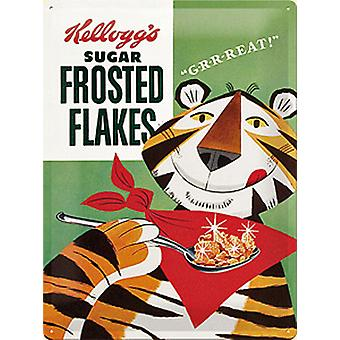 Kelloggs Frosted Flakes Packet Large Embossed Steel Sign 300Mm X 400Mmna
