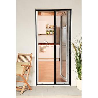 Aluminiowe drzwi rolety zestaw 125 x 220 cm muchy ochrona owadów w antracyt