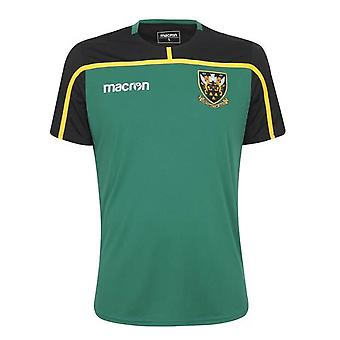 2018-2019 Northampton Saints Macron spelers Rugby Training Shirt (groen)