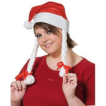 Santa lue med fletter