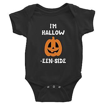 Hohl innen Kürbis Baby Bodysuit Geschenk schwarz