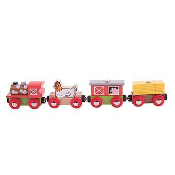 Bigjigs Wooden Railways Farmyard Train