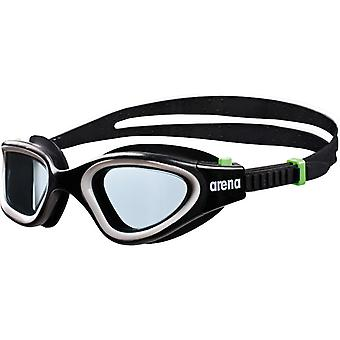 Arena Envision Adult Swimming Goggle- Smoke Lens - Black/Green