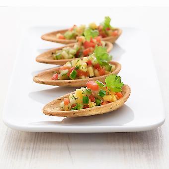 Pidy Mini Neutral Parsley Crispy Mussel Shells 6.5cm