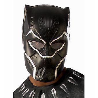 Black Panther Marvel film Superhero licențiat Mens costum 1/2 PVC masca