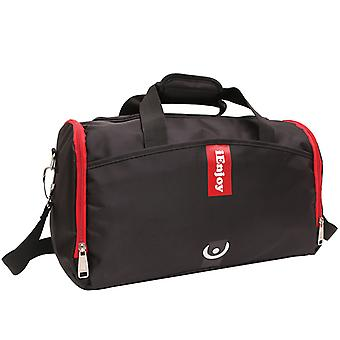 Black shoulder bag or exercise bag in durable fabric