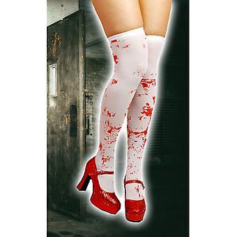 Calze e accessori gambe collant al ginocchio con sangue
