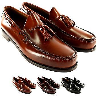 Mens G.H. Bass Larkin Slip On Tassel Smart Penny Loafer Leather Shoe