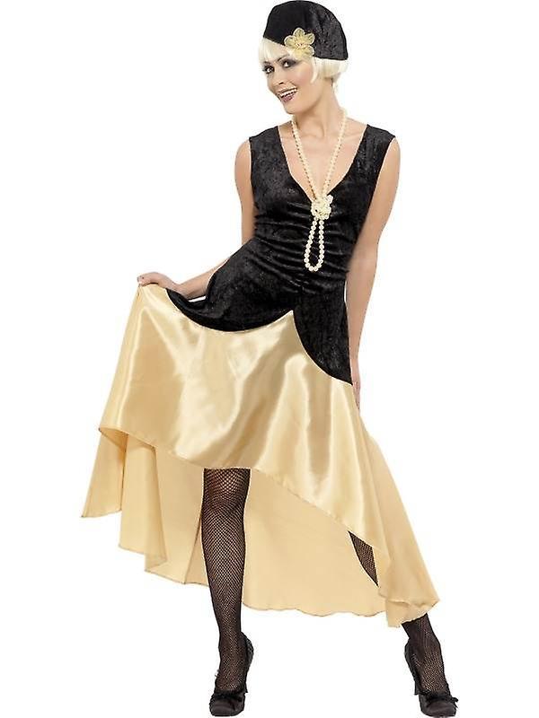 20er Jahre Gatsby Girl Kostum Schwarz Und Gold Uk Kleid 16 18 Fruugo Lu