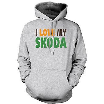 Mens Hoodie - I Love My Skoda - Car Enthusiast