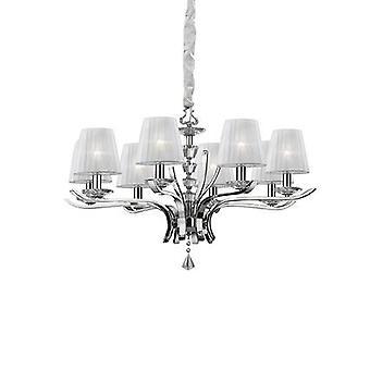 Ideal Lux - Pegaso cromo e cristallo lampadario otto con Organza tonalità IDL059242
