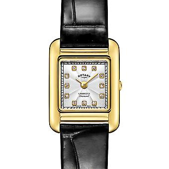Rotary | Ladies Black Leather Strap | Gold Case | LS05288/70/D Watch