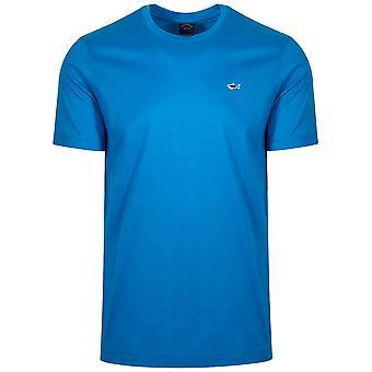 Paul & Shark Royal Blue Shark Logo T-Shirt