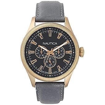 Nautica Analogueico Watch quartz men's watch with leather NAPSTB003