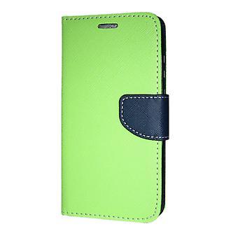 Huawei P20 lompakko kotelo fancy Case + ranne hihna Lime-Navy