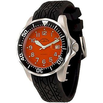 Zeno-watch mens watch diver look II automatic 3862-a5