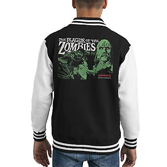 Hammer The Plague Of The Zombies Poster Kid's Varsity Jacket