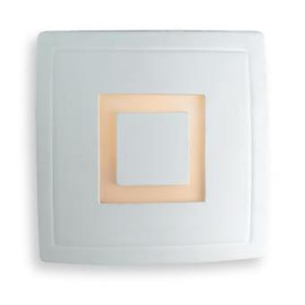 Firstlight-1 lett innendørs vegg lys-100W unglazed, acid hvitt glass-C330UN