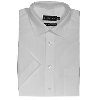 Double Two Short Sleeve Non Iron Poplin Shirts