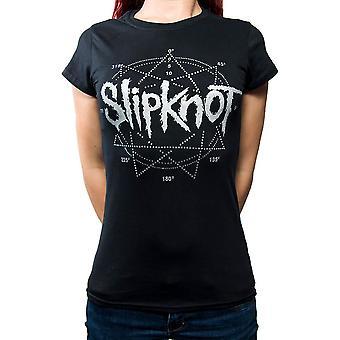 Slipknot Diamante Star logo noir T-shirt femme